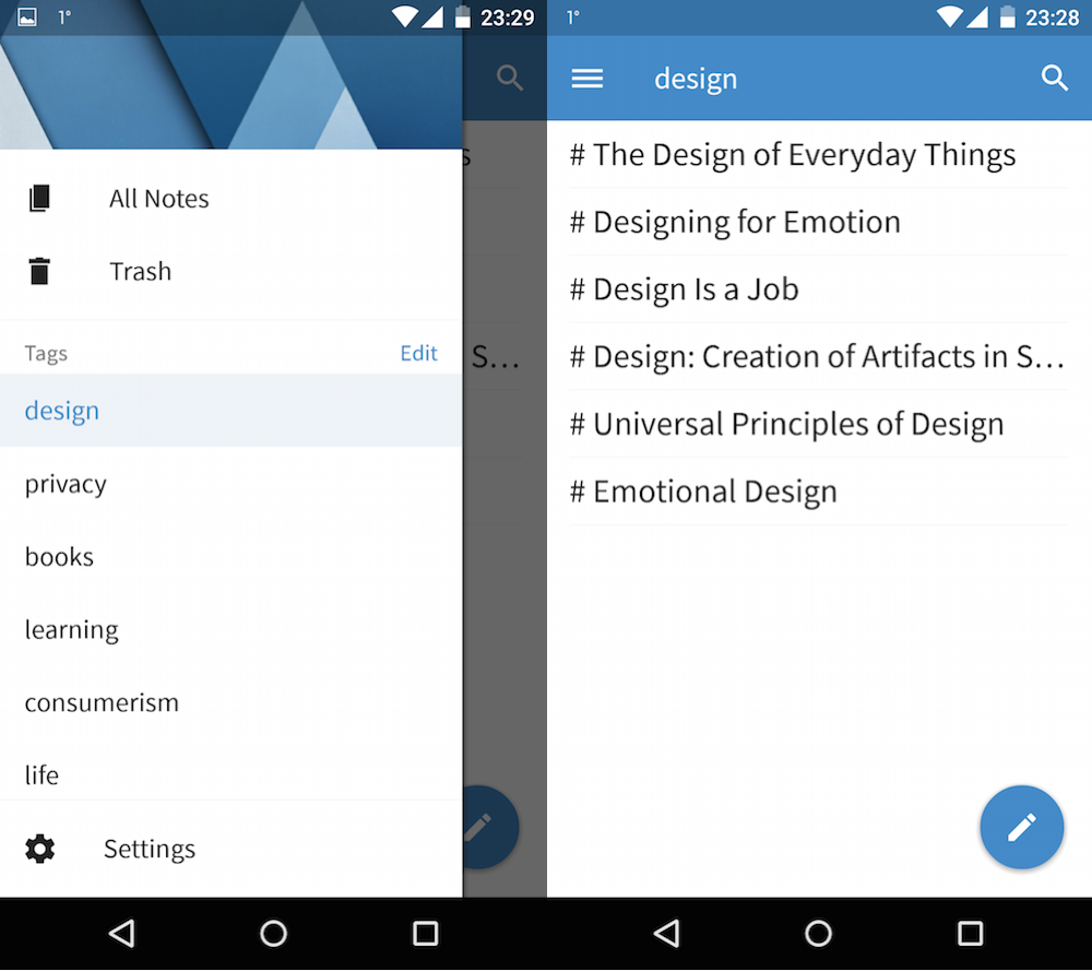 Simplenote on Android