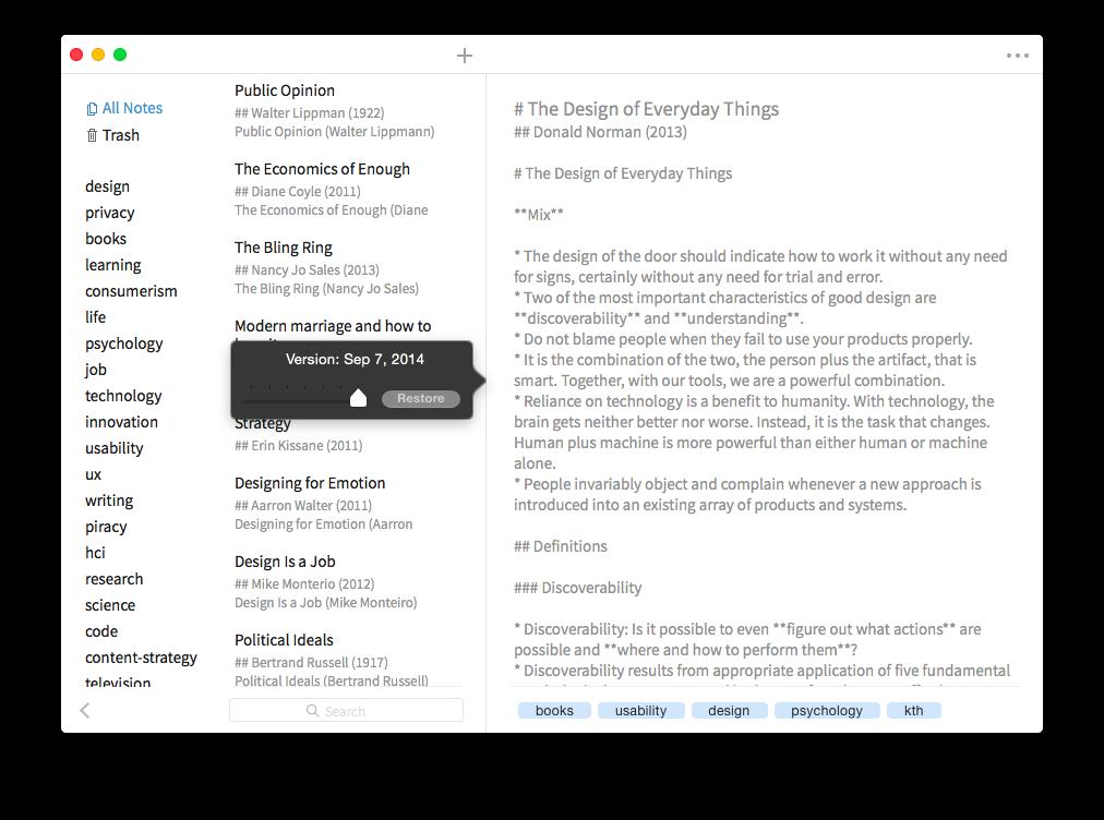 Simplenote on Mac
