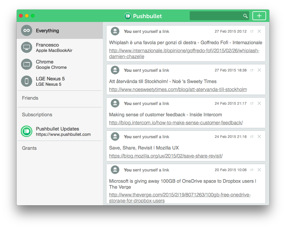 Pushbullet on Mac