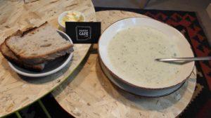 Broccoli soup at Startup Cefé